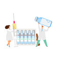 vaccination concept doctors with syringe vector image