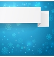 White sheets of paper on a Christmas background vector image