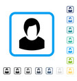 woman profile framed icon vector image vector image