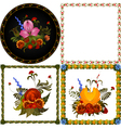 Set of images of decorative floral frame vector image