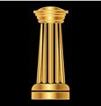 Gold column Ancient Greek vector image