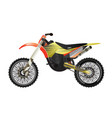 rally motorbike isolated icon vector image