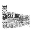 singapore word cloud concept vector image