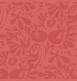 abstract fantasy coral color floral motif vector image vector image