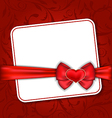 Beautiful card for Valentine Day with red heart vector image