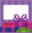 blank note card with gift boxes vector image vector image