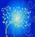 Blue Forest Tree eps vector image vector image