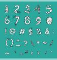 bold biology font vector image vector image
