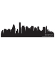 Boston massachusetts skyline detailed silhouette