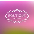 Boutique Logo vector image vector image