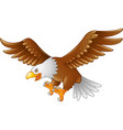 cartoon eagle flying vector image vector image