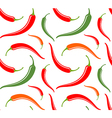 Chili pepper Seamless pattern vector image vector image