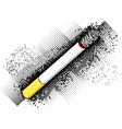 cigarette on the dark background vector image vector image