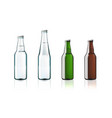clear water glass bottles isolated on white vector image vector image