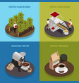coffee industry design concept vector image vector image