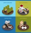coffee industry design concept vector image