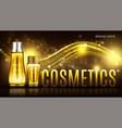 cosmetics bottles mock up banner skin care cream