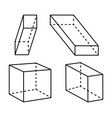cubes and cuboid collection vector image