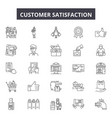 customer satisfaction line icons signs vector image vector image