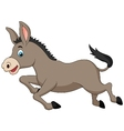 Cute donkey cartoon running vector image vector image