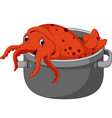cute squid cartoon vector image