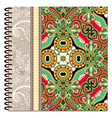 design of spiral ornamental notebook cover vector image