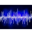 electronic sound waves vector image