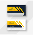 elegant yellow geometric business card design vector image vector image