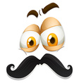 Facial expression with mustache vector image vector image