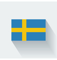Flat flag of Sweden vector image vector image