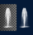 fountain cascade vertical water jets and splashes vector image vector image