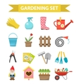Gardening icon set flat style Garden and orchard vector image vector image
