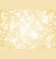 golden christmas lights background vector image vector image