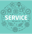 green line flat circle service vector image vector image