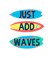 hand drawing surfboard vector image vector image