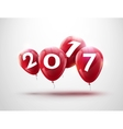 Happy New Year 2017 red balloons design Greeting vector image vector image
