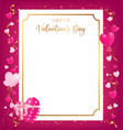 happy valentines day banner conception as top view vector image vector image