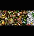 hawaii hand drawn doodle banner cartoon detailed vector image vector image