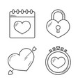 heart line icons vector image