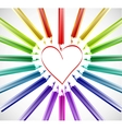 Heart With Color Pencils vector image vector image