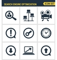 Icons set premium quality of search engine