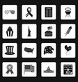 independence day flag icons set squares vector image vector image