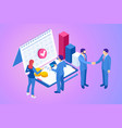 isometric business concepts businessmen vector image