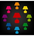 Lamp icon set vector image vector image