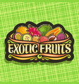 logo for exotic fruits vector image