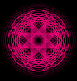 magenta abstract shape vector image