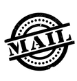 Mail rubber stamp vector image vector image