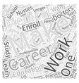 Making a Career from Medical Education Word Cloud vector image vector image
