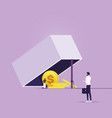money trap concept-financial risk metaphor vector image