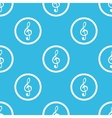 Music sign blue pattern vector image vector image